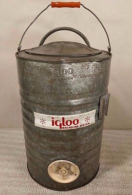 Vintage & Rare Igloo 3 Gallon Galvanized Water Cooler - Southern Railway! Cool!