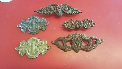 Vintage Victorian Cast Iron Decorative Curtain Rod Centerpiece Lot of 5