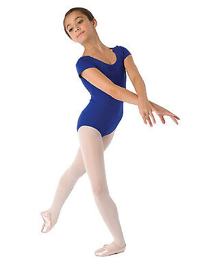 Bloch CL5402 Girl's Size 6X-7 (Intermediate) Royal Blue Short Sleeve Leotard