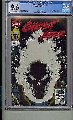 Ghost Rider #15 Cgc 9.6 Glow In The Dark Cover White Pages