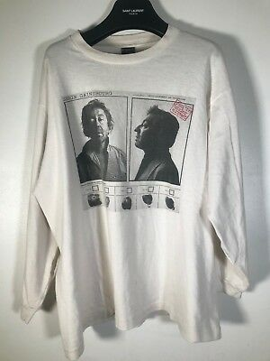 Vintage Serge Gainsbourg Long Sleeve Punk White Rare T-Shirt