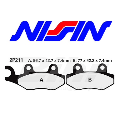 Nissin Front Brake Pads Piaggio Beverly 250 Ie 06-07 2P211St Brake Pads