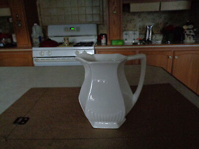 "Vintage  6"" high Wm Adams & Sons Real English White Ironstone Pitcher"