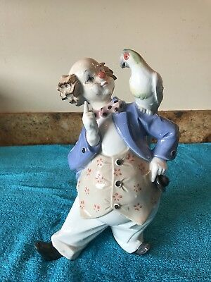 Tengra Porcelain Clown With Parrot from Spain