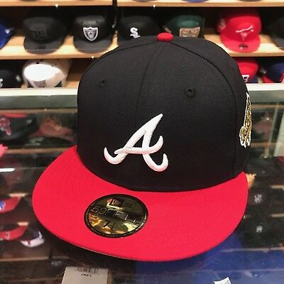 63f49c29a90fe New Era Atlanta Braves Fitted Hat 1995 World Series (GOLD) Patch MLB 59fifty