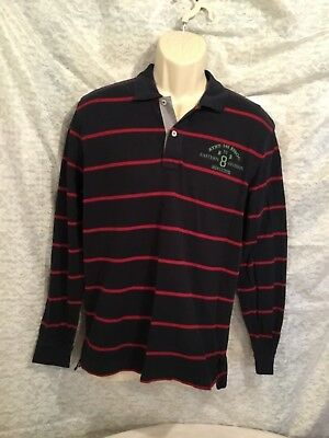 Brooks Brothers Long Sleeve Polo w/ Athletic Assoc Crest Graphic Men's Size Med