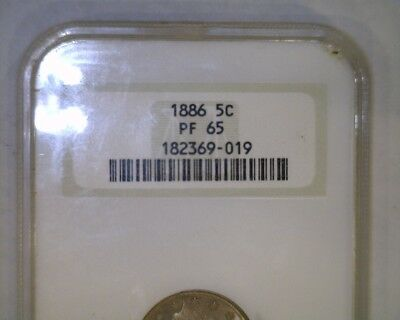 "1886 Nickel   PROOF 65  NGC   Liberty ""V"" Nickle"