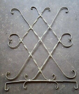 """Mid-century alluminum screen door guard grille cover scroll Vintage 36"""" x 27"""""""