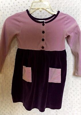 Hanna Andersson Dark Purple and Lavender PlayDress Size 110 / Size 4-6