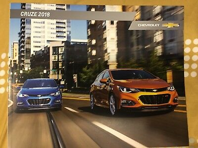 2018 CHEVY CRUZE 36-page Original Sales Brochure