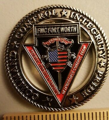 Federal Bureau of Prisons FMC FORT WORTH, TX DCT TEAM Challenge Coin- New