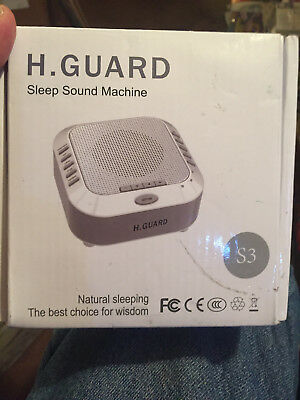 H. Guard Rechargable Sleep Sound Therapy White Noise Machine S3---NEW IN BOX