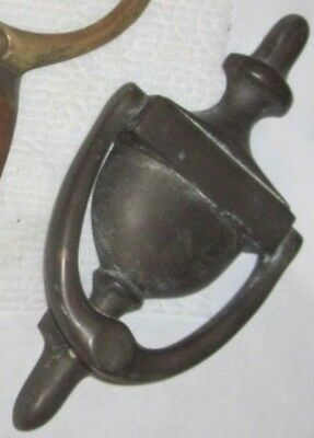 "Antique Vintage Brass Door Knocker about 3"" x 7 1/2"""