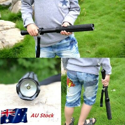 Tactical Emergency Anti Wolf LED Self Defense Flashlight Camping Torch Lamp AU