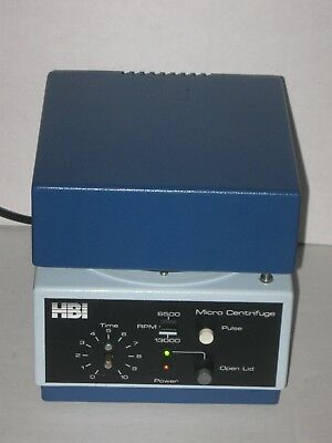 Fisons HBI Micro Centrifuge 12 Slots RPM 6500 Or 13000 Pulse Button Works!!