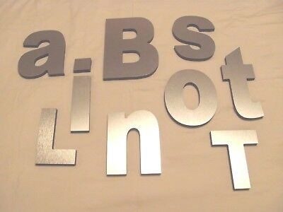 "Stainless Steel / Acrylic Industrial Signage Sign Letters 8.5"" 6.5"" 6.25"" 5.75"""