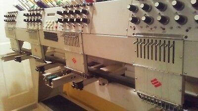 Melco EMC 10/4T Embroidery Machine 4 Head 10 Needle Commercial