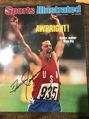 Caitlyn BRUCE JENNER AUTOGRAPH SIGNED 8x10 SPORTS ILLUSTRATED Olympic 1976