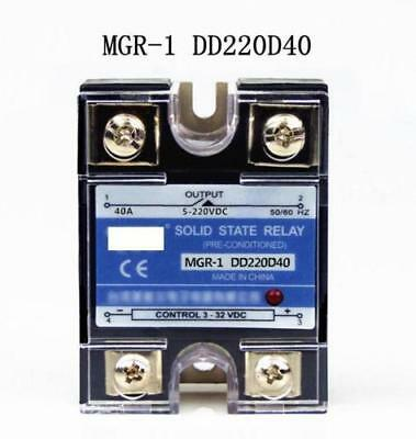 DD220D40 SSR 40A 3-32VDC Input to 5-220VDC Output Solid State Relay DC to DC s
