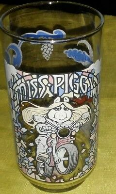 Mint VINTAGE 1981 Miss Piggy The Great Muppet Caper Glass McDonalds
