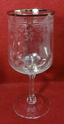 """LENOX crystal LACE POINT pattern Water Goblet or Glass - 7-1/8"""""""