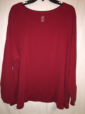 Duo Maternity Long Sleeve T-Shirt Size 4X Red