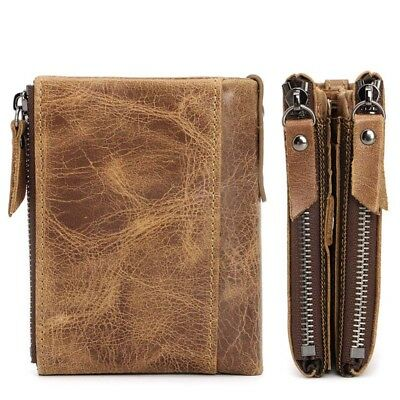 Men Genuine Leather Cowhide Wallet Bifold Coin Purse Card Holder Great Gift US