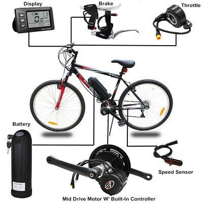 36V 250W Electric Bicycle Mid-Drive Motor Kit High Speed Electric Scooter Diy
