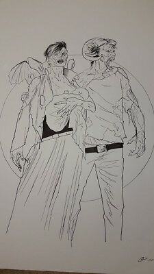 Huge Walking Dead Original Sketch - Homage to Saga #1 Cover