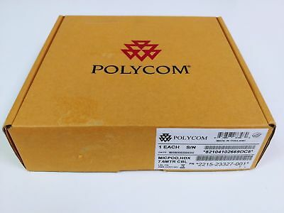 Polycom HDX Mic Pod Extension Microphone BRAND NEW boxed 2215-23327-001 voice