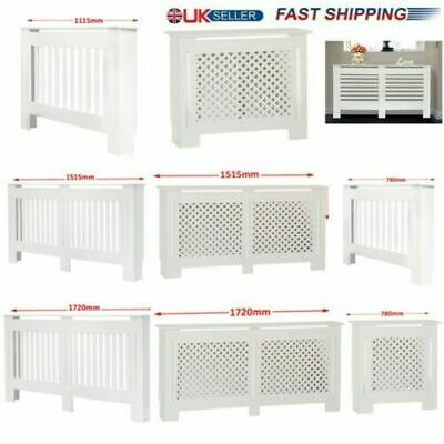 MDF Radiator Cover Cabinet - White-Matte Painted - Vertical Horizontal Cross SML