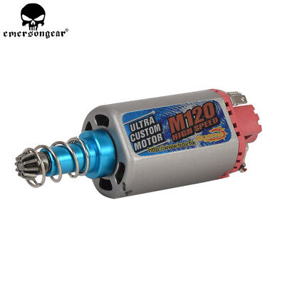 M120 High Speed Motor Electric Machinery AEG Airsoft Long Axis M16/M4/MP5/G3/P90