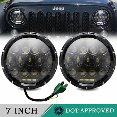 7inch Freightliner Coronado Projector Led Headlight Hi/Lo DRL Turn signal 2X