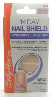 Sally Hansen 14 Day Nail Shield Sheer Strips x 16 Sheer Shell
