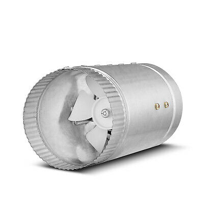 Inline Duct Fan Booster – (4 Inch 65 CFM) Exhaust Blower Vent Air Ventilation