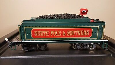 Bachmann G Scale - Christmas / Holiday North Pole & Southern Coal Tender / Sound