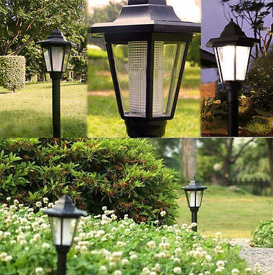 Outdoor Solar Power LED Path Way Wall Landscape Mount Garden Fence Lamp Light GB