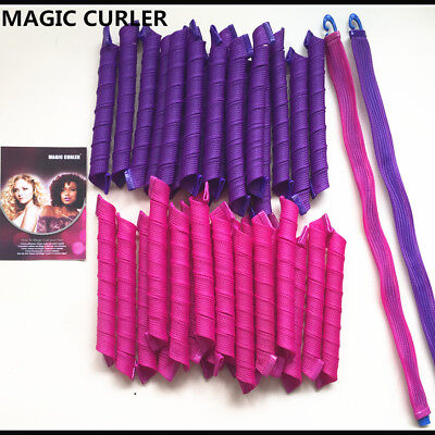 40PCS 55cm Magic Hair Curlers Curl Formers Spiral Ringlets Leverage Rollers