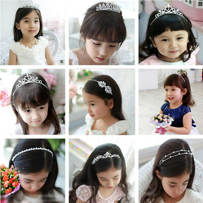 New Wedding Flower Child Kids Crystal Rhinestone Prom Party Tiara Crown Headband