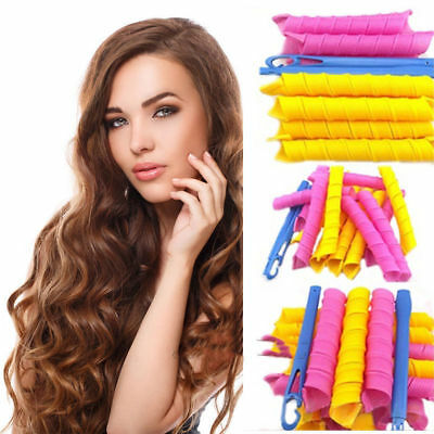18PCS 45cm Magic Hair Curlers Curl Formers Spiral Ringlets Leverage Rollers New