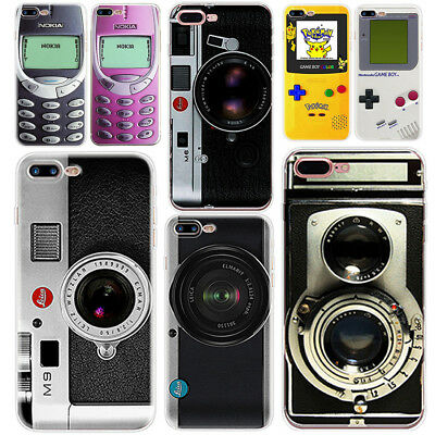 Game Camera Pattern Silicone Ultra Phone Case Cover for iPhone 5 6 6S 7 8 Plus