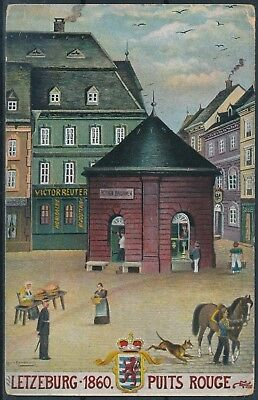 [AI2457] Luxembourg - Art - Puits Rouge TB carte postale