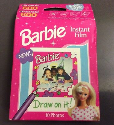 Barbie Instant Polaroid 600 Film 10 Count Sealed In Box Vintage F.A.O. Schwarz