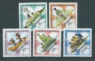 Ghana SG671-675 1973 World Scout Conference Unhinged Mint