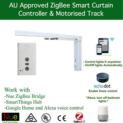 SMART ZIGBEE MOTORISED Curtain Track for SmartThings Nue Alexa Google  Automation