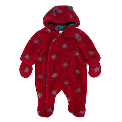Kite Clothing Soft Cosy Fleece Winter Suit Snow Red Star 0 - 3m  NEU