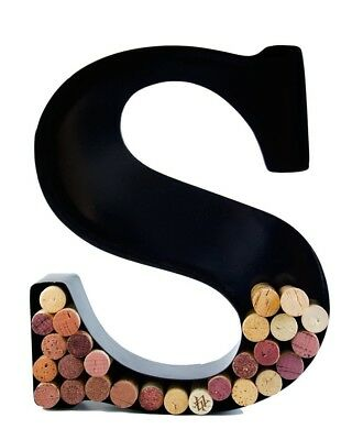 (S) - Wine Cork Holder - Metal Monogram Letter (S). Will's. Shipping is Free
