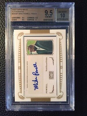 2009 Topps Mayo Autographs Mike Powell World Record Holder Track BGS