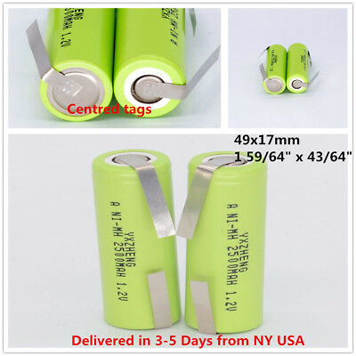 2 Replacement Battery for Braun Oral-B Toothbrush 49mm x 17mm Ni-MH Rechargeable