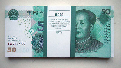 50 Fuan Euro 80pcs Paper Money FOR GAME